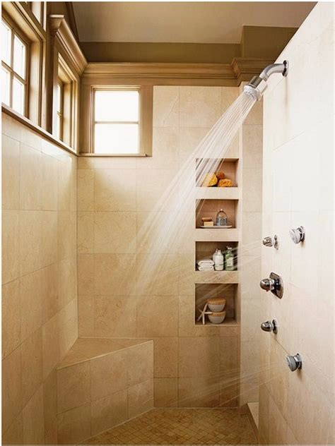 built in shower built in shower shelves