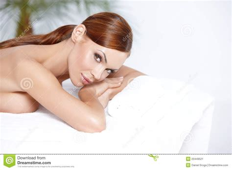 Lying On Bed by Lying On Spa Bed Stock Image Image 20449521