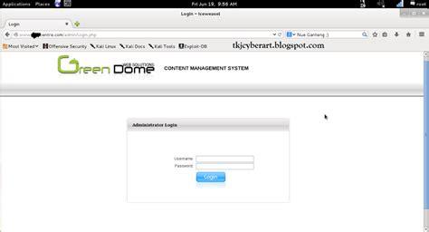 tutorial deface bypass admin tutorial bypass admin greendome cms shell upload tkj