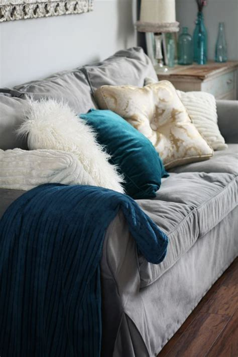 teal slipcover 29 awesome ikea ektorp sofa ideas for your interiors