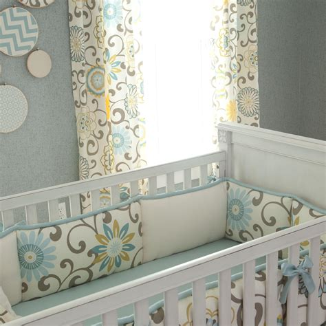 Unisex Baby Bedding Crib Sets Spa Pom Pon Play Crib Bedding Gender Neutral Baby Bedding Carousel Designs
