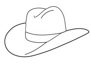 hat outline template free cowboy boot outline folioglyphs cowboy hat