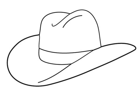 Cowboy Hat Template free cowboy boot outline folioglyphs cowboy hat