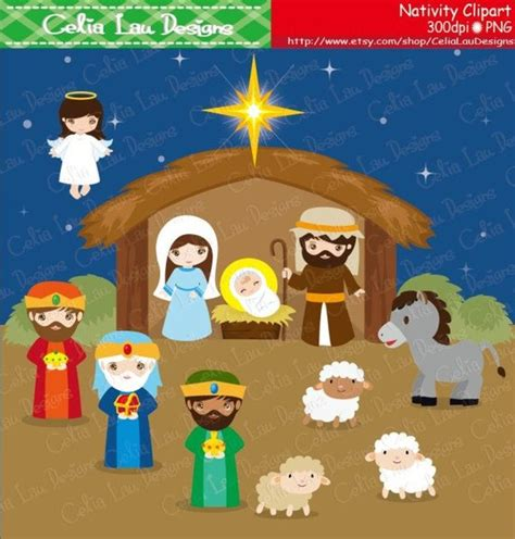 christmas baby jesus party for kids nativity birth of jesus clipart clipart