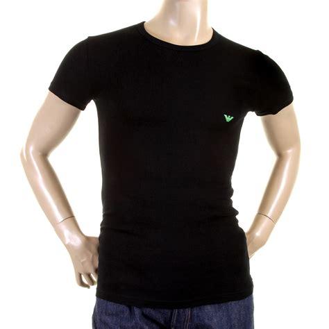 Armani T Shirt emporio armani t shirts black crew neck logo t shirt