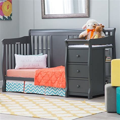 3 convertible baby cribs with attached changing tables
