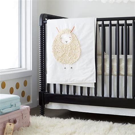 sheep baby bedding sheepish sheep print crib bedding the land of nod