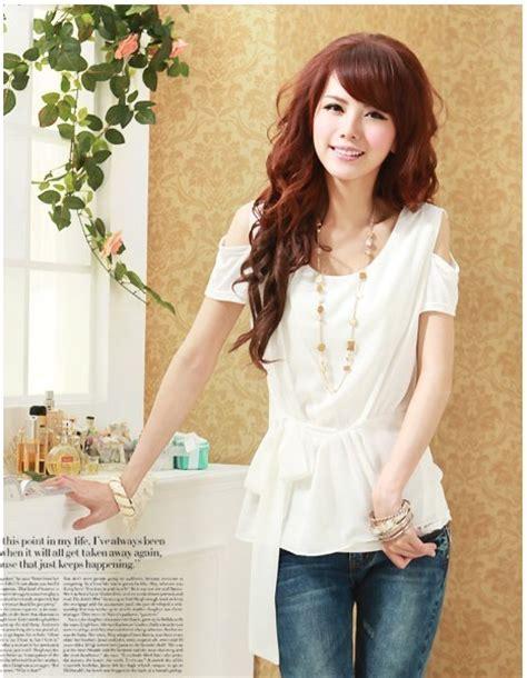 Baju Wanita Blouse Floral Hitam Putih Lengan Panjang blouse wanita import polos model terbaru jual murah import kerja