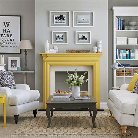 yellow and grey kitchen decorating housetohome co uk pale grey living room with yellow fireplace living room