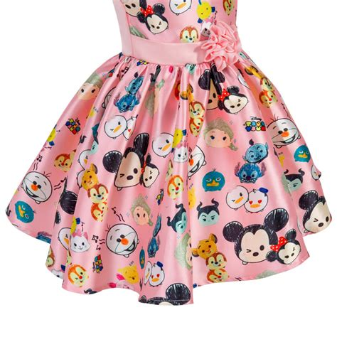 Tsum Tsum Satin Dress new tsum tsum flowers disney princess dress birthday dresses ebay
