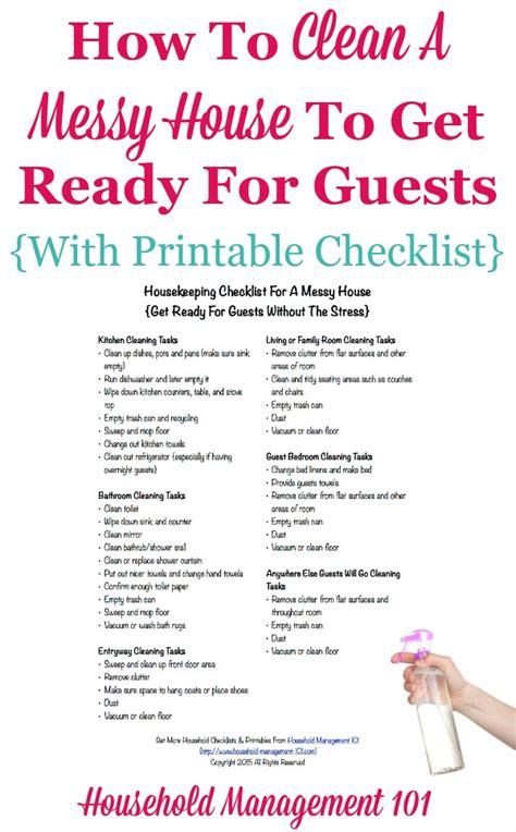 how to clean a home housekeeping checklist for a messy house get ready for