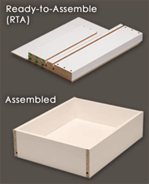 Ready To Assemble melamine drawers and plywood drawer boxes walzcraft