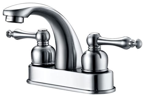 Traditional Bathroom Faucets by Huntington Polished Chrome Centerset Bathroom Faucet