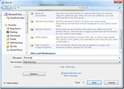 save visio as image publishing diagrams to visio services visio insights