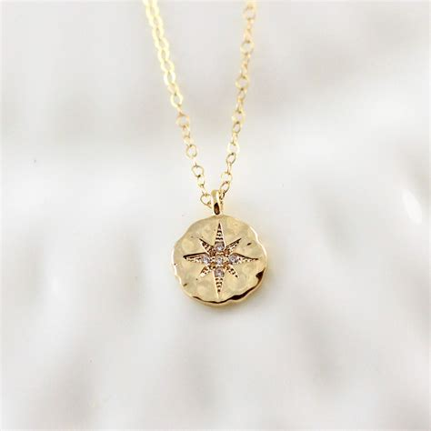 gold compass necklace go confidently jewelry graduation gift