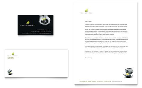 wealth management services business card letterhead