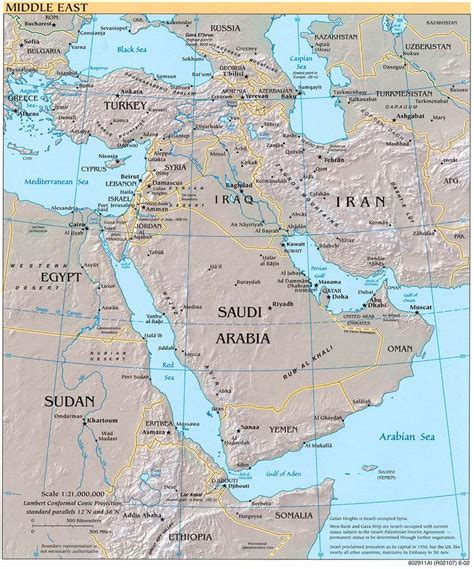 mideast gulf map maps of middle east