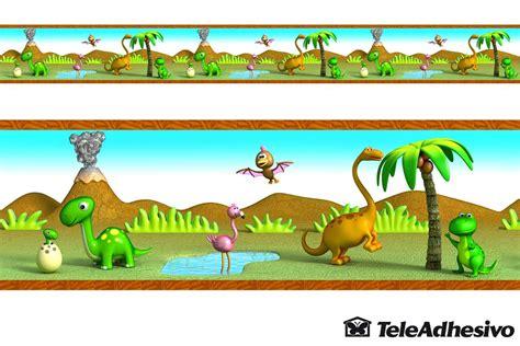 cenefas infantiles pared cenefa dinosaurios