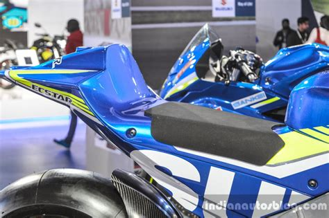 Ktm At Auto Expo 2016 by 2016 Suzuki Gsx Rr Motogp Bike Seat At Auto Expo 2016