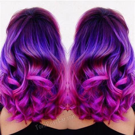 mermaid color hair purple mermaid hair melting into magenta hair color by