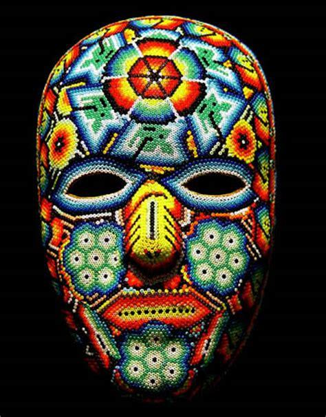 bead mask huichol beaded masks at mexico lindo mercado dsc01489
