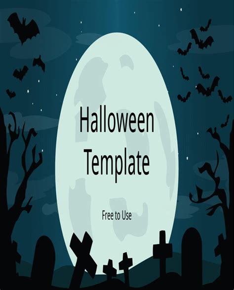 download halloween powerpoint template for free formtemplate
