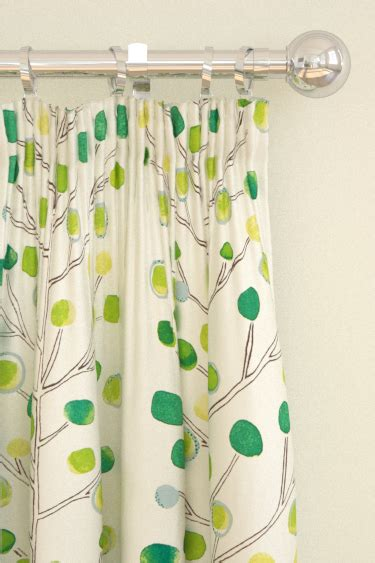 scion berry curtains berry tree by scion green wallpaper direct