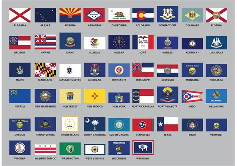 flags of the world united states us state flag vectors download free vector art stock