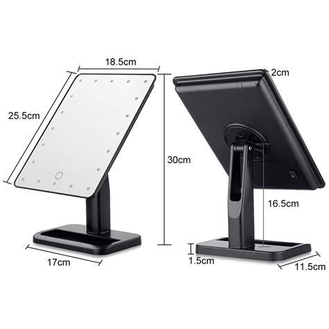 countertop makeup mirrors with light portable led lighted makeup cosmetic mirror adjustable