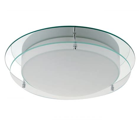 Chrome And Opal Glass Flush Fitting Bathroom Ceiling Light Ip44 Searchlight Electric 7803 36 Flush Bathroom Light Buy At Lightplan