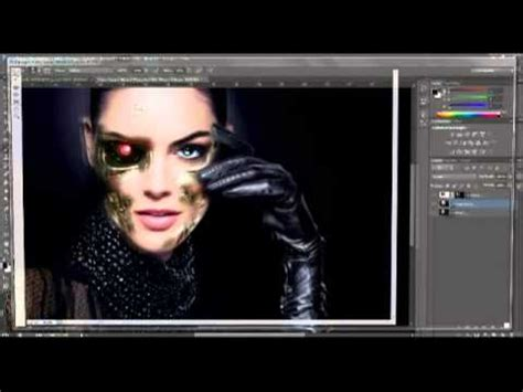 adobe photoshop robot tutorial adobe photoshop cs6 robot face tutorial youtube