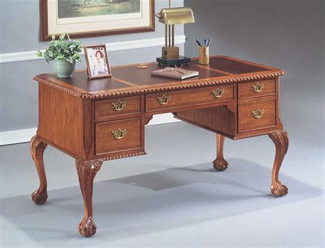 Oak Home Office Furniture Queen Anne Secretary Desk Queen