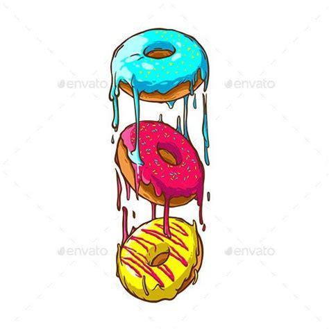 donuts  riverone graphicriver donut art