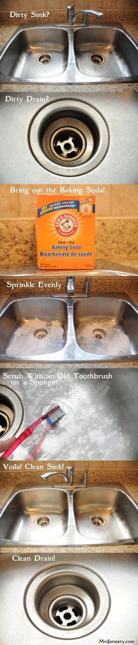 Cleaning Kitchen Sink With Baking Soda How To Shine A Stainless Steel Sink Cleaning My Entire House With Baking Soda In College Got Me