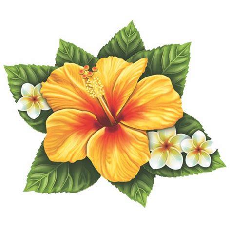 tatuaggi fiori tropicali single hibiscus flower yellow pool mosaic