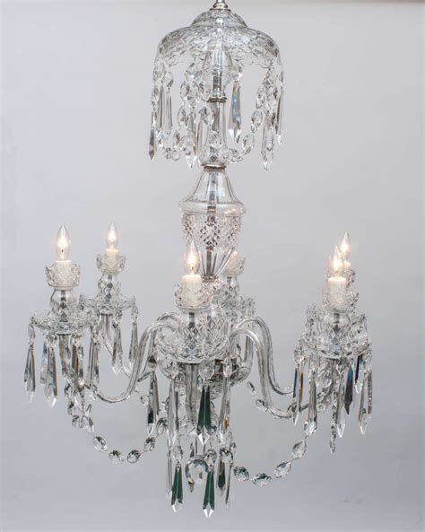 Waterford Chandeliers Waterford Six Light Chandelier Circa 1970 Image 2