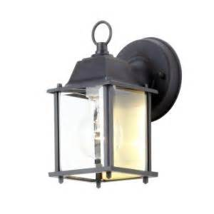 hton bay 1 light black outdoor wall lantern bpm1691 blk