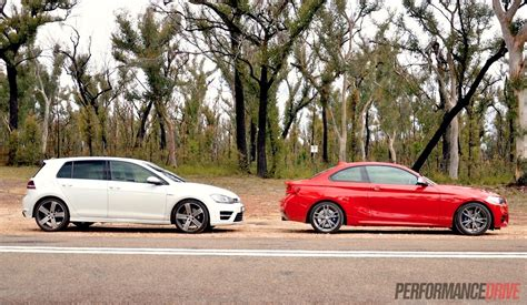 volkswagen bmw bmw m235i vs volkswagen golf r performance comparison