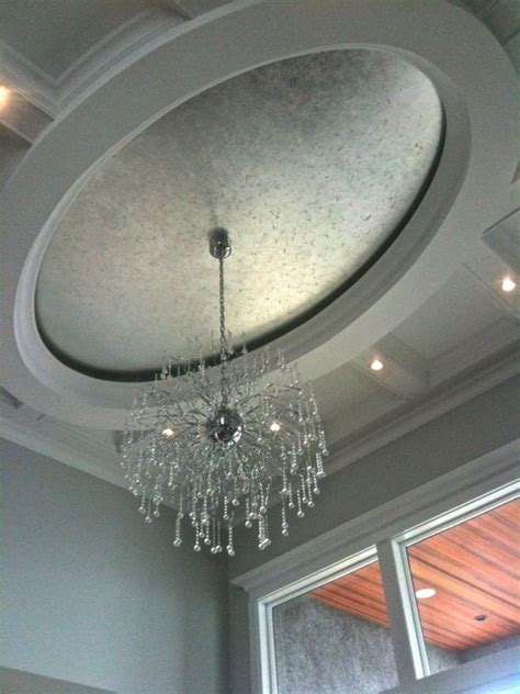 Silver Ceiling Paint by Silver Gilded Oval Ceiling Vancouver By