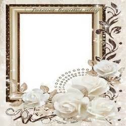 cornici psd free wedding png frame photo frame psd wedding white roses