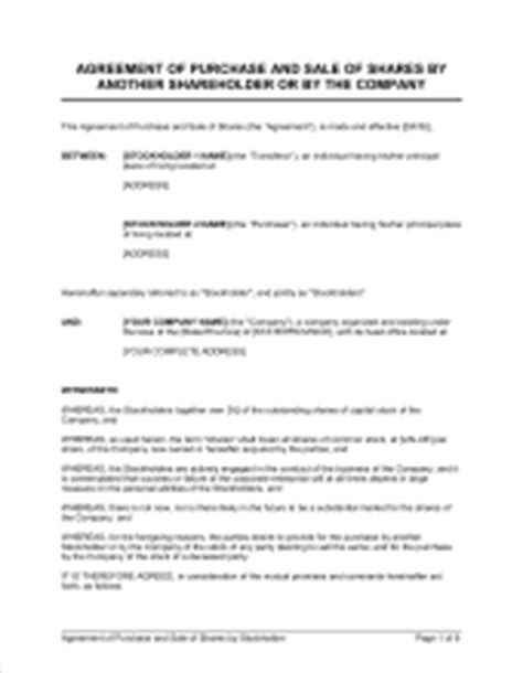 Agreement Of Purchase And Sale Of Shares Template Word Pdf By Business In A Box Staking Contract Template