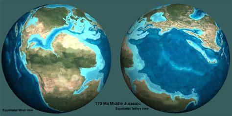 jurassic map america ancient sea levels