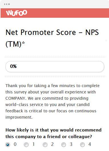 net promoter score survey template form template wufoo