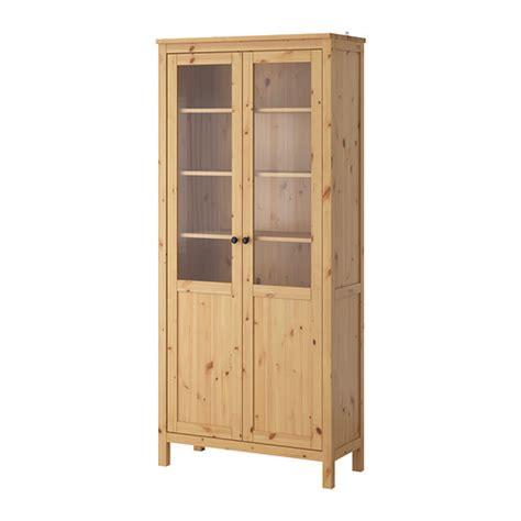 hemnes cabinet with panel glass door light brown 90x197 cm