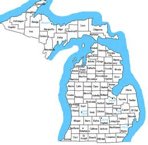 County Map Of Michigan by Map Of Michigan Counties Tourism Fiji
