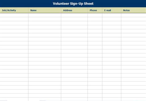 Simple Sign In Sheet Template by Simple Sign Up Sheet Template Sles Vlashed