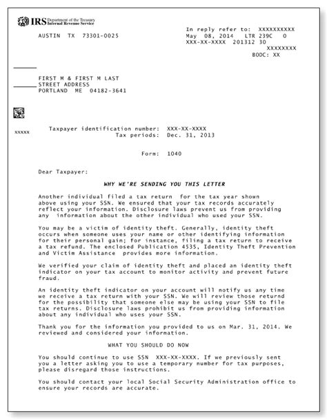 Irs Identity Theft Letter Articleezinedirectory Irs Letter Template
