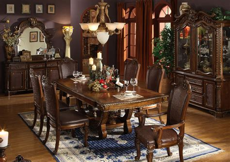 Elegant Dining Room Furniture Formal Dining Table 8 Chairs Chair Pads Amp Cushions
