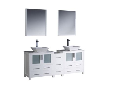 72 in double bathroom vanities 72 inch double vessel sink bathroom vanity in white
