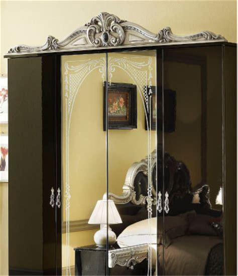 barocco bedroom set barocco traditional bedroom set in black silver bed 2 nightstands double dresser